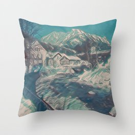 Austrian Winter IV Throw Pillow
