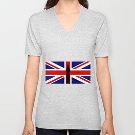 Union Flag Big Ben Unisex V-Neck