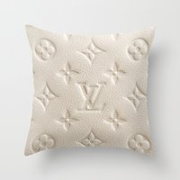 lv Throw Pillows featuring Cream LV by I Love Decor