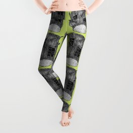 Mysterious Forest Creatures In Tree Log Leggings