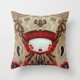 """Kokeshi Doll"" Throw Pillow"