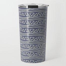 Blue Scribbles Pattern 03 Travel Mug