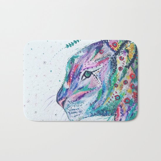 Tiger in the Garden Bath Mat