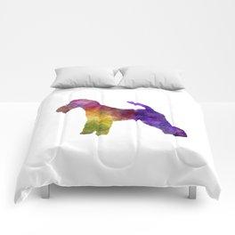 Fox Terrier in watercolor Comforters