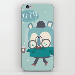 Snazzy Bear Says Good Day iPhone Skin
