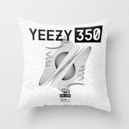 YEEZYS 350 Boost Sneakers Art Throw Pillow