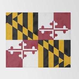 State flag of Flag Maryland Throw Blanket