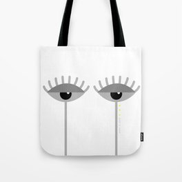 Unamused Eyes | Grey on White Tote Bag