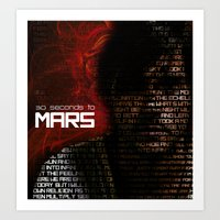 30 seconds to mars Art Prints featuring 30 Seconds to Mars by Genesys