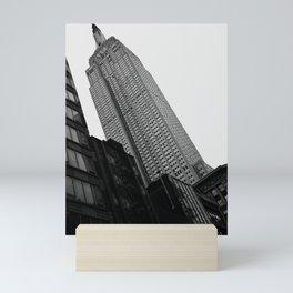 Empire State Building in Black and White Mini Art Print