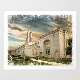 San Antonio Texas LDS Temple Art Print