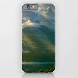 Scenery in the Grand Tetons by Albert Bierstadt iPhone Case