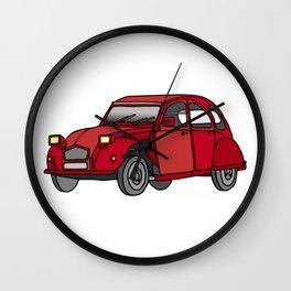2CV french oldtimer car Wall Clock