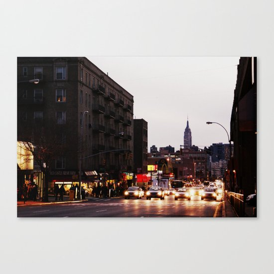 Evening Rush Home Canvas Print