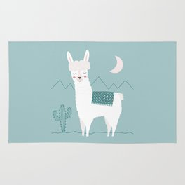 Alpaca In The Mountains Rug