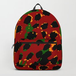Cheetah Spots in Red, Yellow and Green Backpack