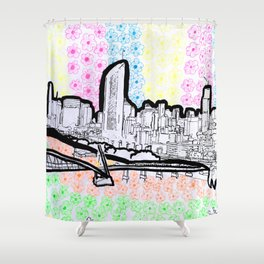 BRISBANE POSTCARD SERIES 017 Shower Curtain
