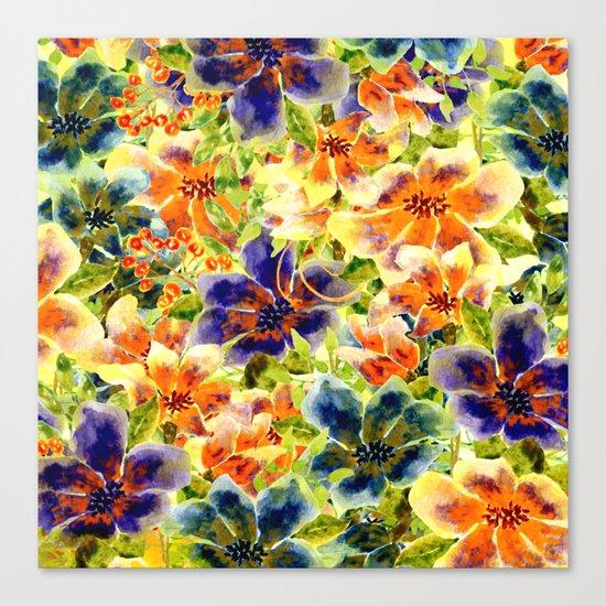 vivid floral Canvas Print