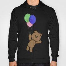 Happy birthday card with fun bear flying in the sky Hoody