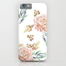 Coral Rose Meadow Slim Case iPhone 6s