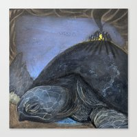 turtle Canvas Prints featuring Turtle by Pat Butler