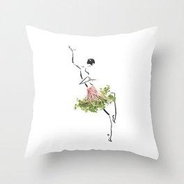 Edible Ensembles: Radish Greens Throw Pillow