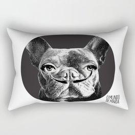 FRENCH BULLDOG FORNASETTI MUSTACHE Rectangular Pillow