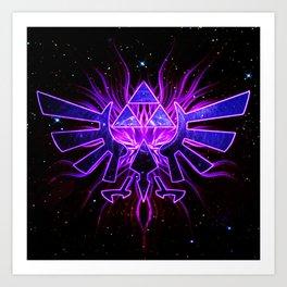 Zelda Space Art Print