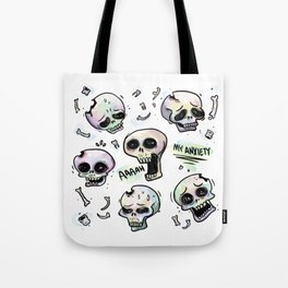 Anxiety Skulls Tote Bag
