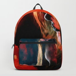 Portrait in the clouds Backpack