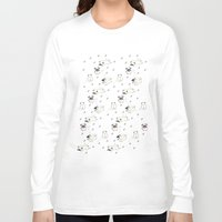 pugs Long Sleeve T-shirts featuring Pugs by Alisse Ferrari