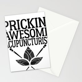 Acupuncture Humor Prickin Awesome Acupuncturist Stationery Cards