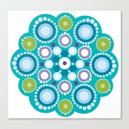 Lotus mandala flower Canvas Print