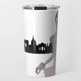 Fashion Illustration Alexa paris pink gown  Travel Mug