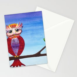Midnight Owl Stationery Cards