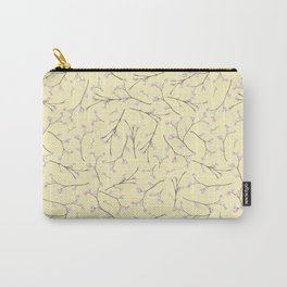 Sakura - Cherryblossom Branches on yellow Pattern Carry-All Pouch