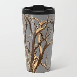 RAVEN ON DEAD TREE GREY ART Travel Mug
