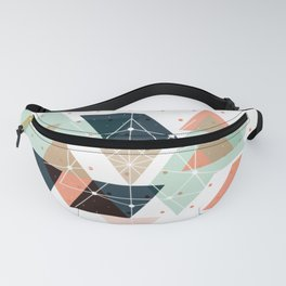 Midcentury geometric abstract nr 011 Fanny Pack