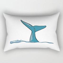 Whale fish fin Rectangular Pillow