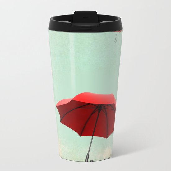 rising into the blue Metal Travel Mug