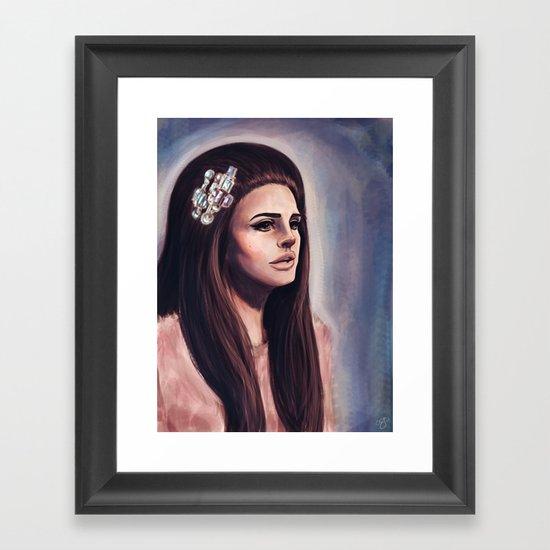 She Wore Blue Velvet Framed Art Print