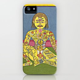 Sapta Chakra, from a Yoga Manuscript iPhone Case