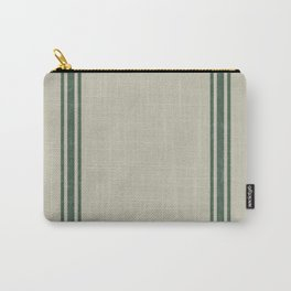 Vintage Country French Grainsack Green Stripes Linen Color Background Tasche