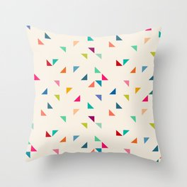 Seamless geometric pattern with triangles Throw Pillow