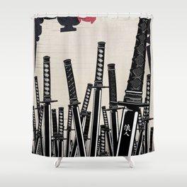 Samurai Champlo Shower Curtain