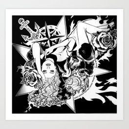 Soho Tattoo design Art Print