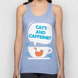 Cat's and Caffeine Unisex Tank Top