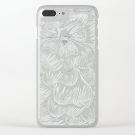 Silver Flower Clear iPhone Case
