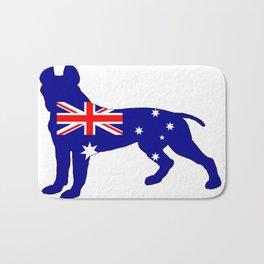 Australian Flag - Pit Bull Terrier Bath Mat
