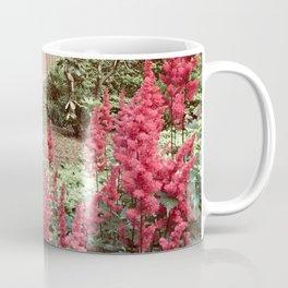 Tall Red Flowers & Path Coffee Mug